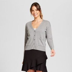 a new day V neck Heather Gray Cardigan Sweater